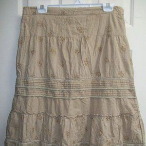 Dresses & Skirts - Jessica Beige Cotton Skirt